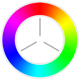 Triad Colors Are Three Hues Equidistant On The Color Wheel. When You Want A  Design That Is Colorful And Yet Balanced, A Triad Color Scheme Might Be The  Way ...